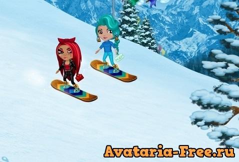 Гонки на сноубордах аватария как выиграть